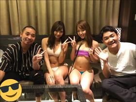 吉野七宝実&寺口智香、生放送でローションまみれの過激ショット連発!