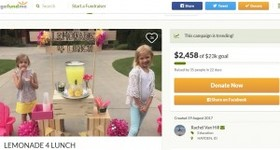 給食費を払えない児童のために、6歳少女がレモネードスタンドを開く(米)